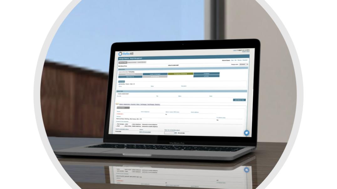 ReferAll's data management platform